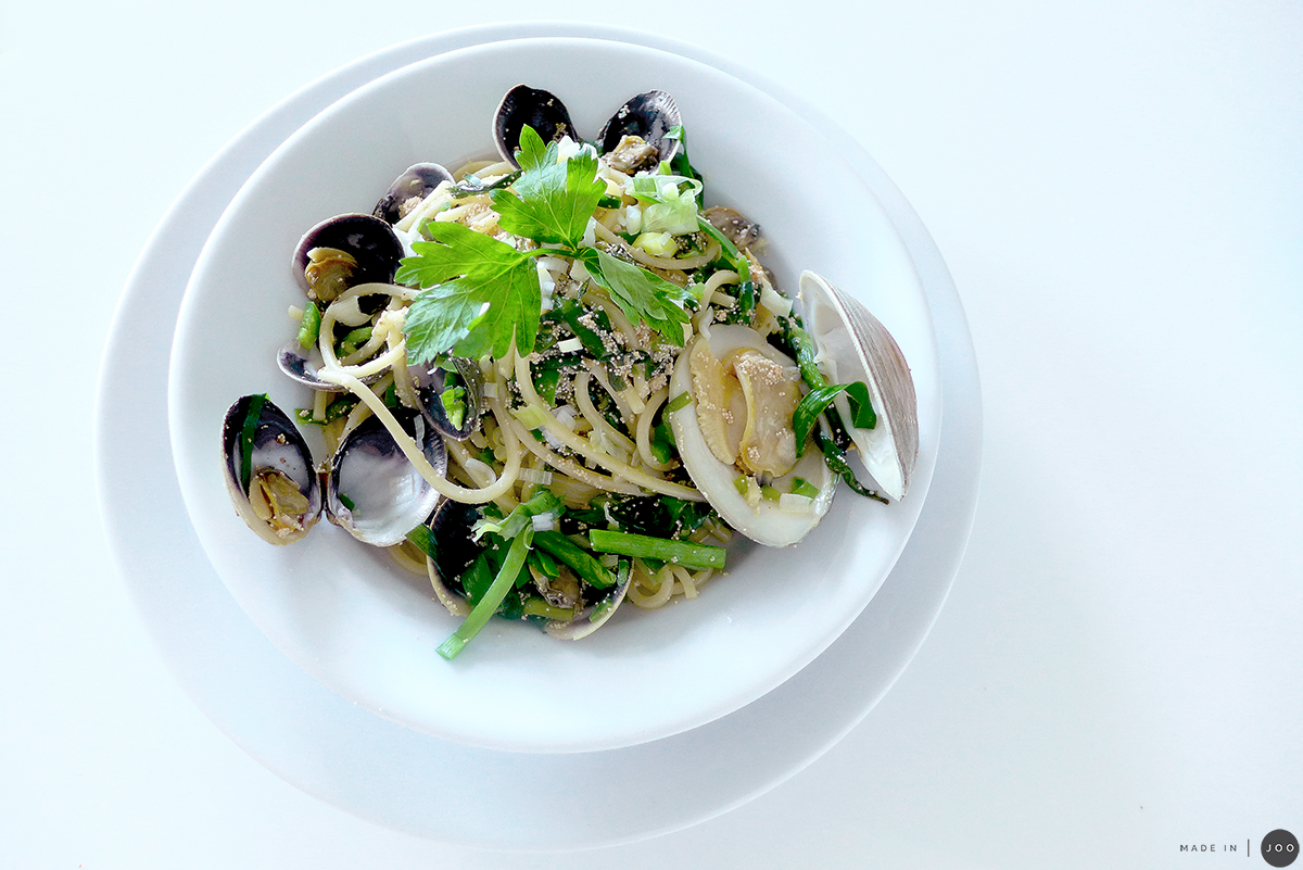 mentaiko-pasta-with-chives-and-clams-15