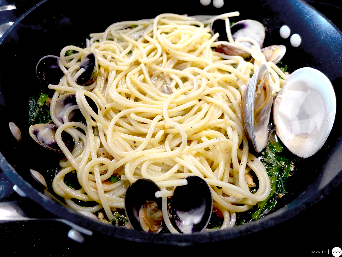 mentaiko-pasta-with-chives-and-clams-9